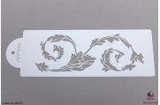 PAISLEY Florentijnse krul stencil Large