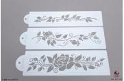 PAISLEY Rozen stencils set/3