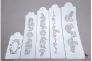 PAISLEY Indiase Mehndi stencils set/5