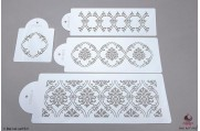 PAISLEY Royal damast stencils set/4