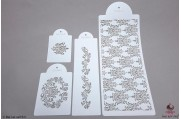 PAISLEY Filigree damast stencils set/4