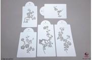 PAISLEY Bloeiende kersenboom stencils set/5
