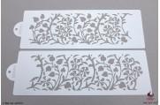 BHZ Vergulde bloemen stencils set/2