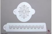 PAISLEY Victoriaans ovaal stencil set/2