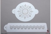 PAISLEY Victoriaanse cirkel stencil set/2