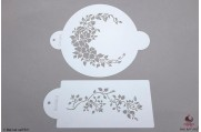 PAISLEY Wilde roos stencil set/2