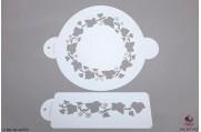 PAISLEY Klimop ring stencil set/2
