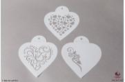 PAISLEY Moderne harten stencils set/3