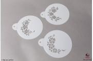 PAISLEY Bloemen stencils set/3